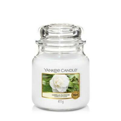 Camellia Blossom közepes üveggyertya
