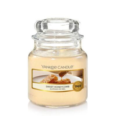 Sweet Honeycomb kis üveggyertya