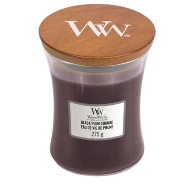 Black Plum Cognac közepes üveggyertya