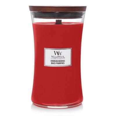 Crimson Berries nagy üveggyertya
