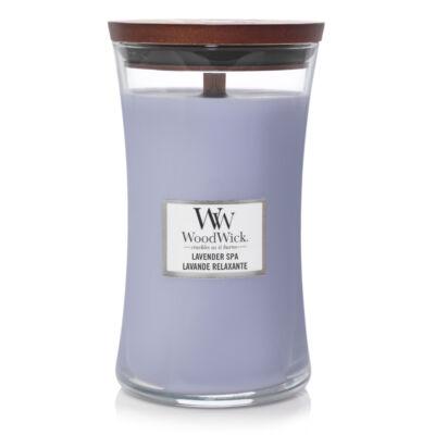 Lavender Spa nagy üveggyertya