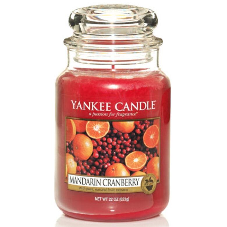 Mandarin Cranberry nagy üveggyertya