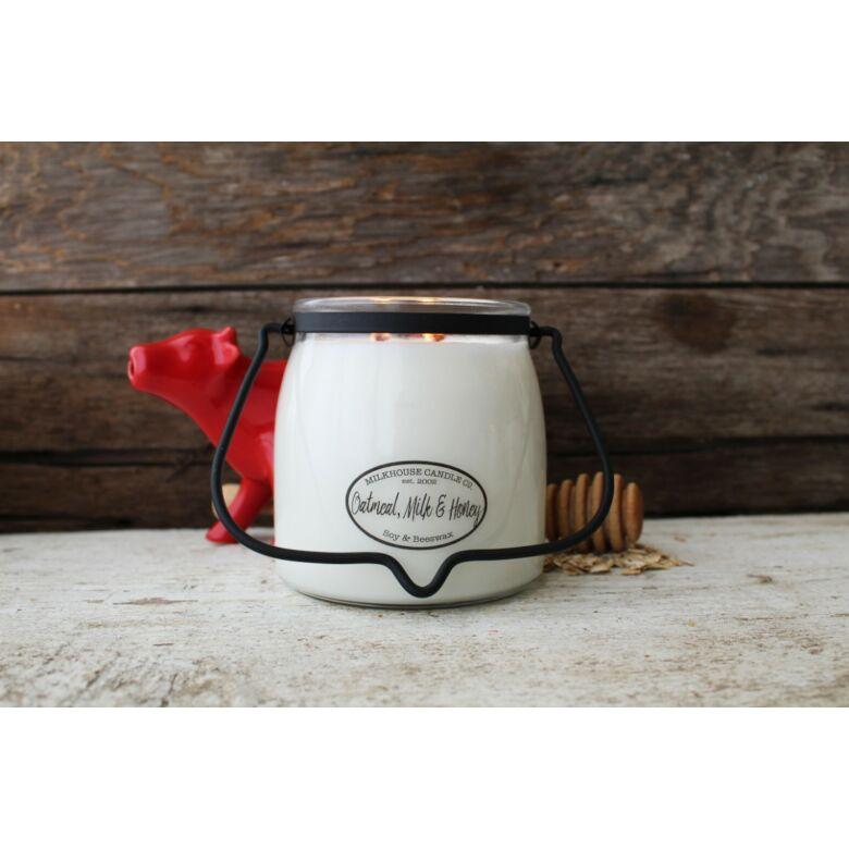 Oatmeal, Milk, & Honey Creamery közepes üveggyertya