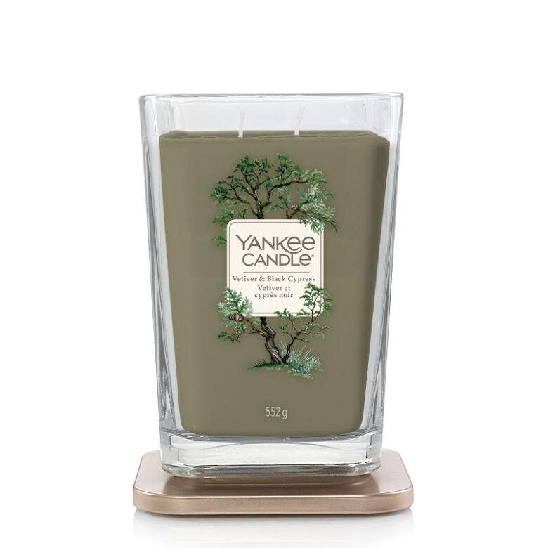 Vetiver & Black Cypress nagy üveggyertya