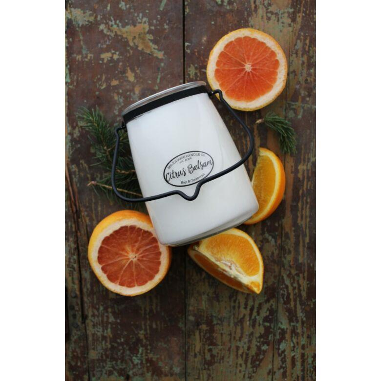 Citrus Balsam Creamery nagy üveggyertya