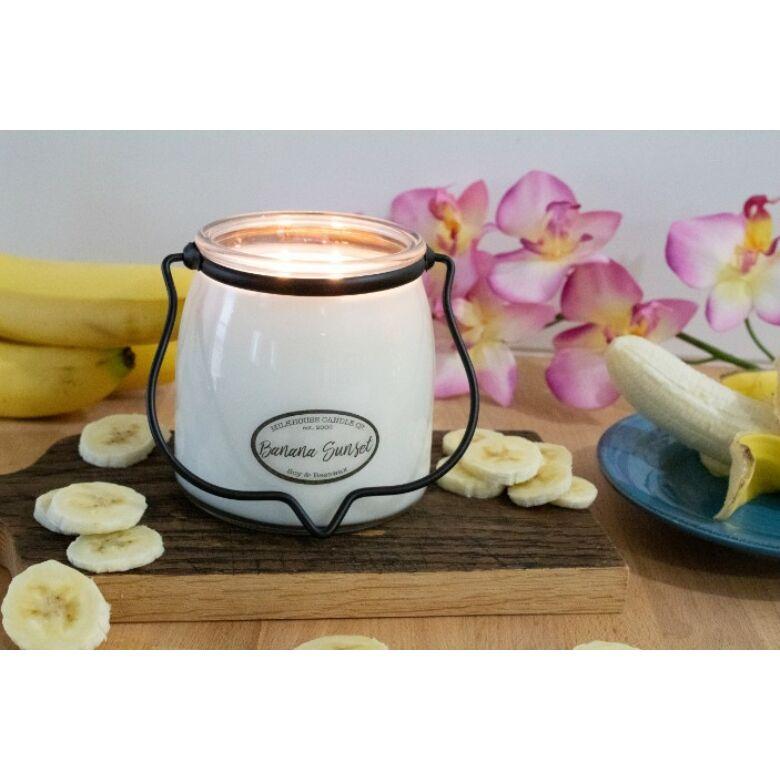Banana Sunset Creamery közepes üveggyertya