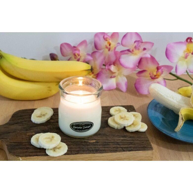 Banana Sunset Creamery kis üveggyertya