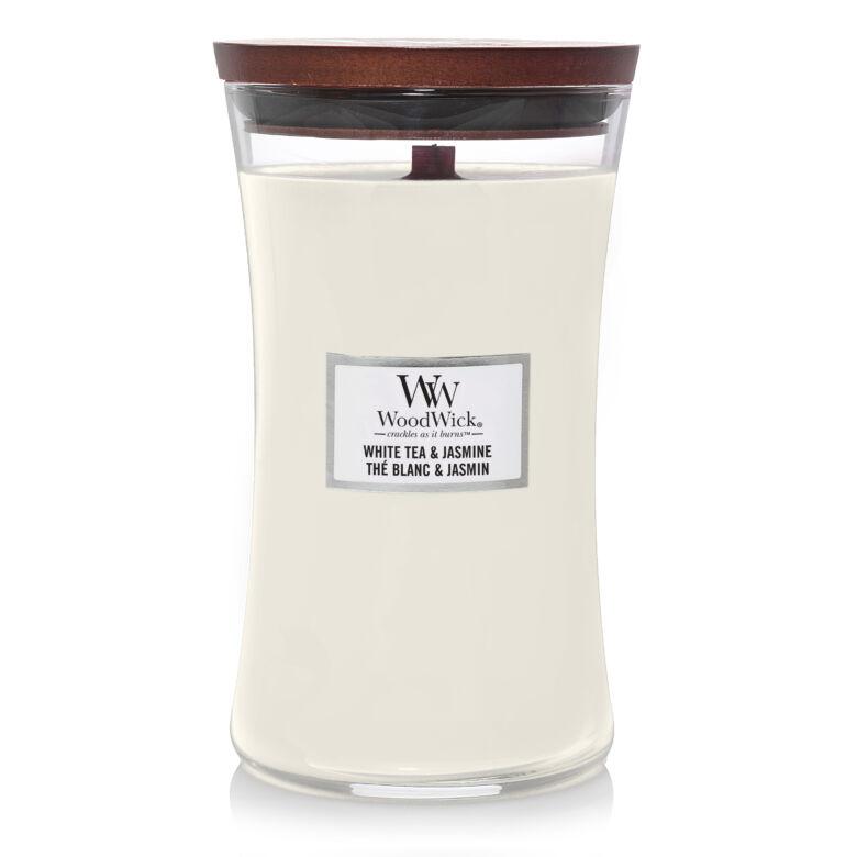 White Tea & Jasmine nagy üveggyertya