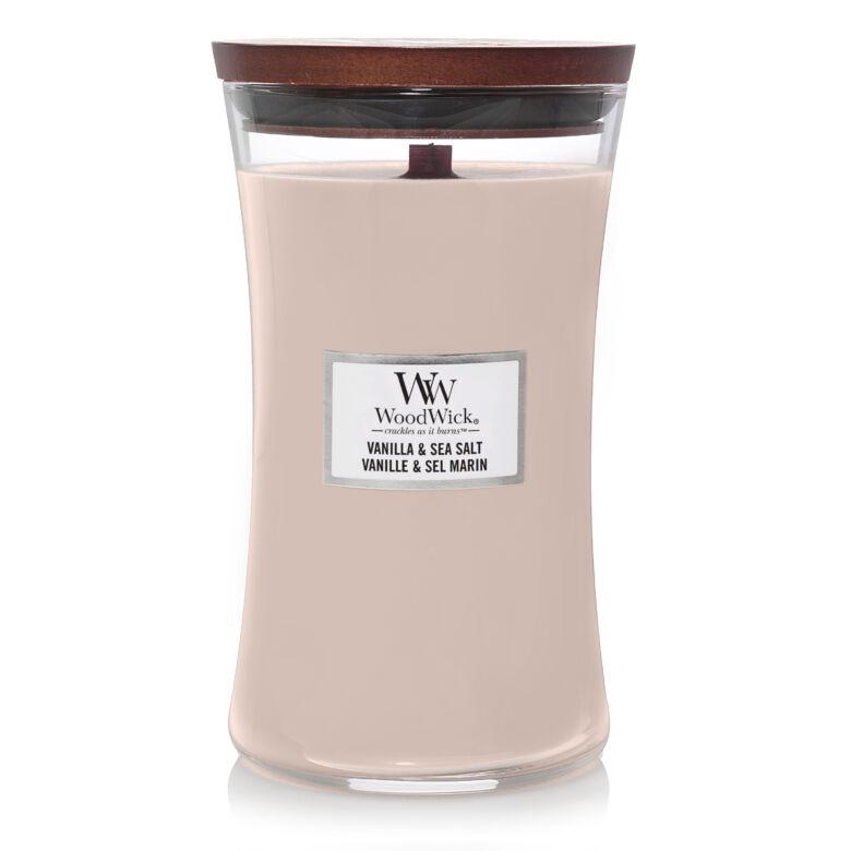Vanilla & Sea Salt nagy üveggyertya